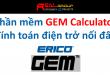 Phần mềm GEM calculator  Tính toán điện trở nối đất