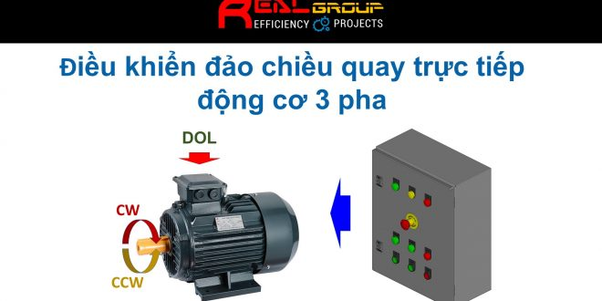 Điều khiển đảo chiều quay trực tiếp động cơ 3 pha